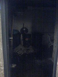 Der vom Brand betroffene Müllraum