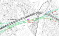 Lageplan Impler-/Poccistraße aus der vertieften Machbarkeitsplanung U9