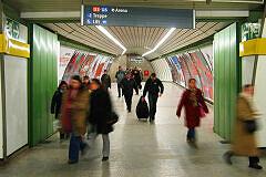 Verbindungstunnel zur U3/U6 im U-Bahnhof Odeonsplatz