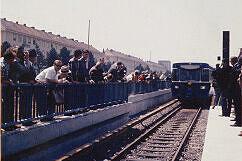19. Oktober 1971: Der erste feierliche U-Bahnzug erreicht den Bahnhof Studentenstadt
