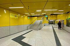 Neuer Querschlag unter der Sonnenstraße im U-Bahnhof Sendlinger Tor