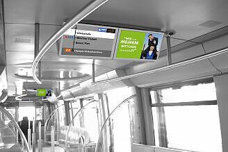 Neues Fahrgastinformationssystem: Fotomontage im C-Zug
