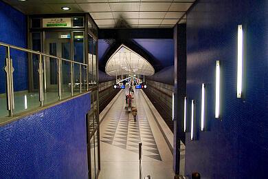 Östlicher Zugang zum U-Bahnhof Hasenbergl