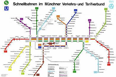 Schnellbahnnetzplan Mai 1977
