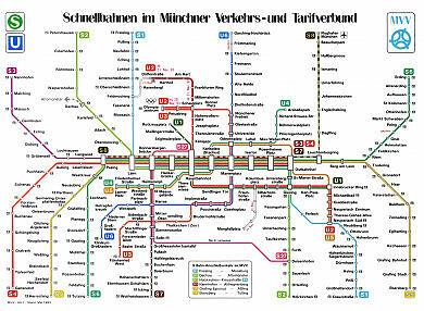 Schnellbahnnetzplan Mai 1993