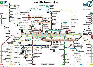 Schnellbahnnetzplan Juni 1999