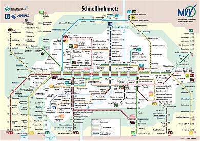 Schnellbahnnetzplan Juli 2003