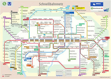 Schnellbahnnetzplan Dezember 2009