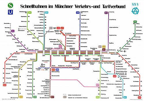 Schnellbahnnetzplan Mai 1981