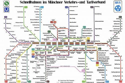 Schnellbahnnetzplan Mai 1989