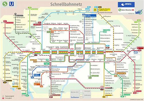 Schnellbahnnetzplan Dezember 2008