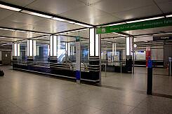 Sperrengeschoss des U-Bahnhofs Prinzregentenplatz