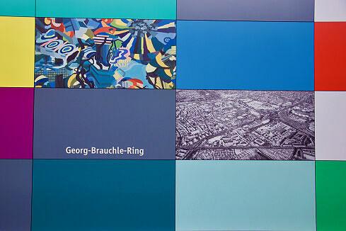 Wandbilder am Georg-Brauchle-Ring