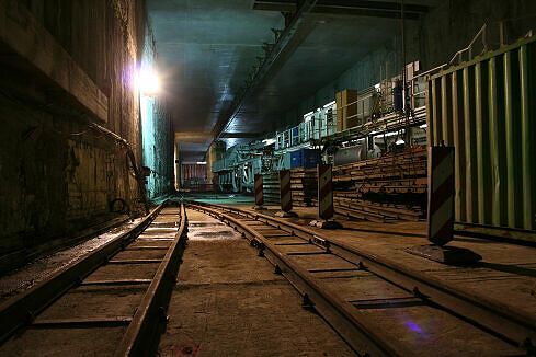 Bahnhof Moosach im Rohbau