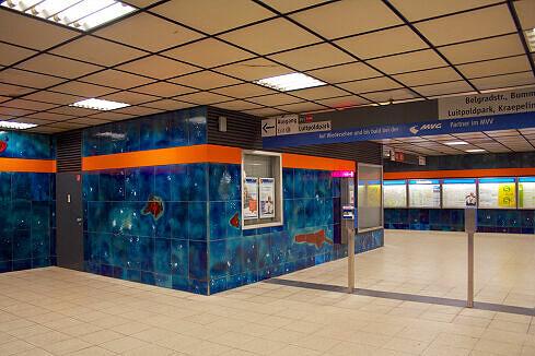 Sperrengeschoss im U-Bahnhof Scheidplatz