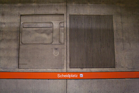 Wandrelief im U-Bahnhof Scheidplatz