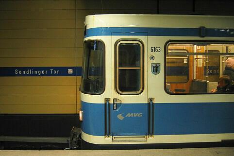 A-Wagen 163 am Sendlinger Tor