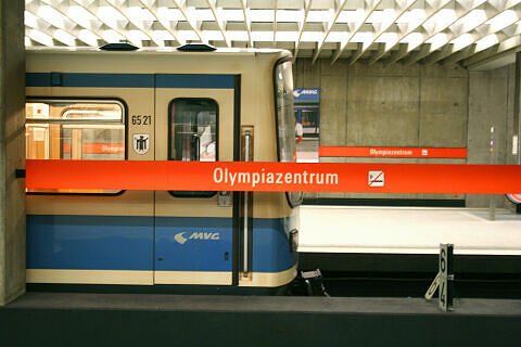 B-Wagen 521 am Olympiazentrum