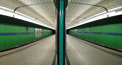 Bahnsteigpanorama Forstenrieder Allee