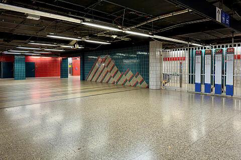 Sperrengeschoss im U-Bahnhof Innsbrucker Ring