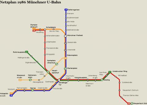 Netzplan Stand 31.12.1986