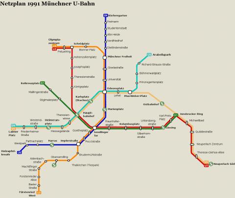 Netzplan Stand 31.12.1991