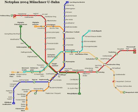 Netzplan Stand 31.12.2004