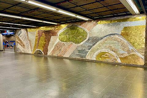 Wandmosaik von Karl Knappe