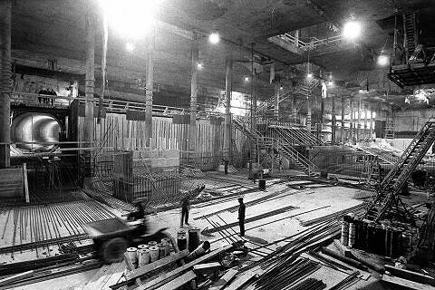 Tag der offenen Türe Oktober 1969: der Rohbau des U-Bahnhofes Marienplatz kann besichtigt werden