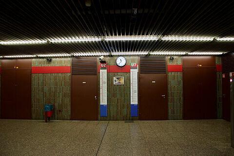 Sperrengeschoss im U-Bahnhof Untersbergstraße