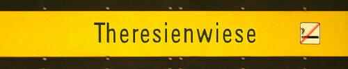 Stationsschild Theresienwiese