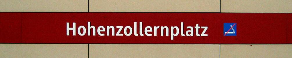 Stationsschild Hohenzollernplatz