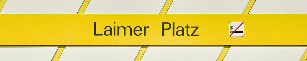 Stationsschild Laimer Platz