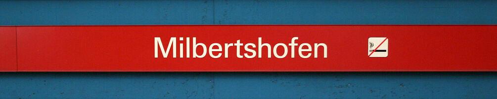 Stationsschild Milbertshofen
