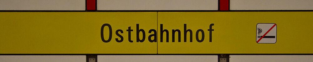 Stationsschild Ostbahnhof