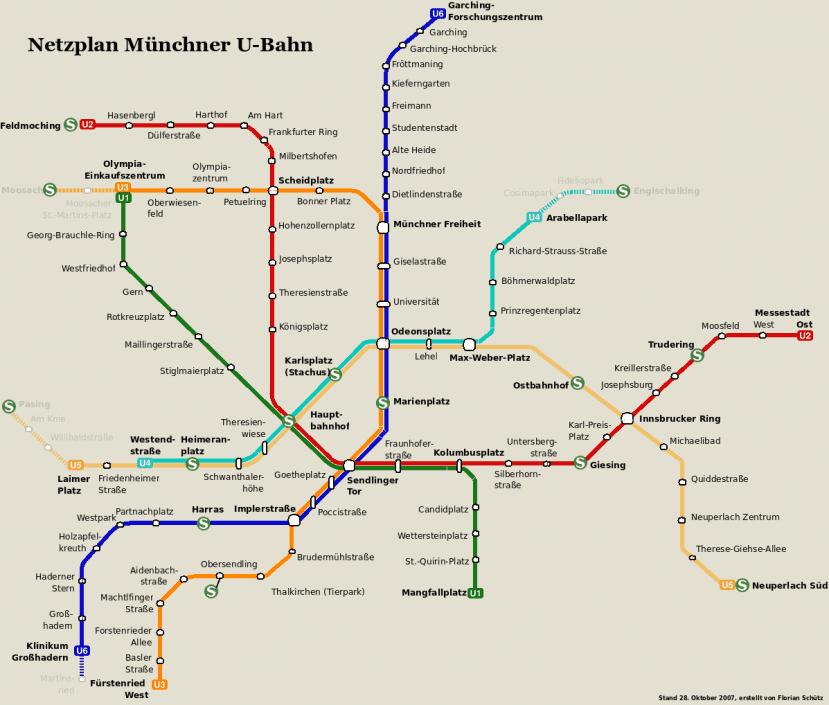 Netzplan Stand 28. Oktober 2007
