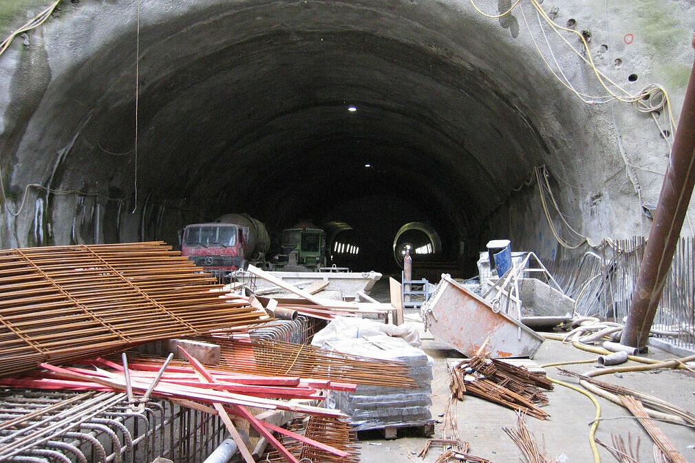 Startschacht zum Tunnelvortrieb Richtung OEZ